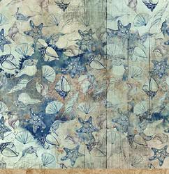 Craft O'clock skräppipaperi Ocean Deep 06