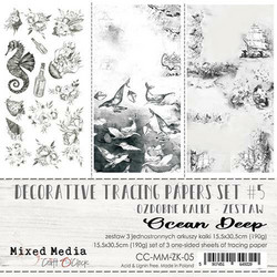 Craft O'clock Mixed Media Ocean Deep -kuultopaperit