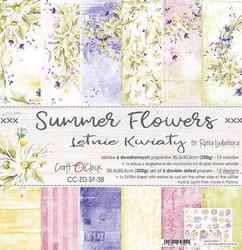 Craft O'clock paperipakkaus Summer Flowers, 12