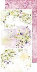 Craft O'clock paperipakkaus Summer Flowers Junk Journal Extras