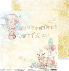 Craft O'clock skräppipaperi Woodland Friends 01