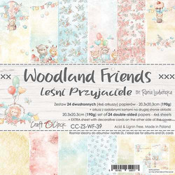 Craft O'clock paperipakkaus Woodland Friends, 8