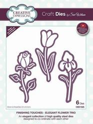 Creative Expressions stanssi Elegant Flower Trio