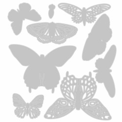Sizzix Thinlits stanssisetti Flutter On By