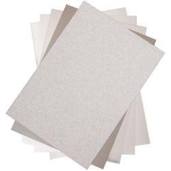 Sizzix Surfacez Opulent Cardstock -pakkaus, Silver