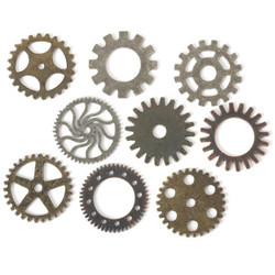 Steampunk Metal Accents -metallikoristeet, Gears