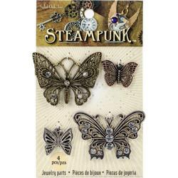 Steampunk Metal Accents -metallikoristeet, Butterflies