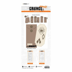 Studio Light stanssisetti Grunge Essentials Slimline Envelope