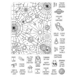 Hero Arts leimasinsetti Galaxy Peek-A-Boo Parts