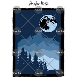 Maker Forte sapluuna- ja maskisetti Scene the World, Mountain, Full Moon