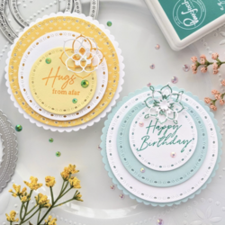 Pinkfresh Studio Stitched Scallop Circle -stanssi