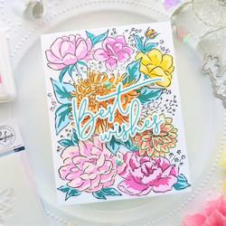 Pinkfresh Studio sapluunasetti Flower Garden, A2