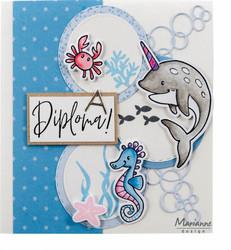 Marianne Design leimasin- ja stanssisetti Eline's Animals In The Sea