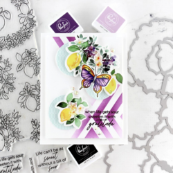 Pinkfresh Studio washi-teippi Lemons & Blueberries