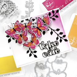 Pinkfresh Studio sapluunasetti Small Butterflies, A2
