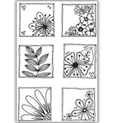 Julie Hickey leimasin Floral Frames