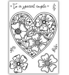 Julie Hickey leimasin Fresh Florals Heart