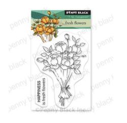 Penny Black ... Fresh Flowers -leimasin