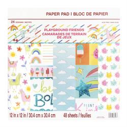 Craft Smart paperipakkaus Playground Friends, 12