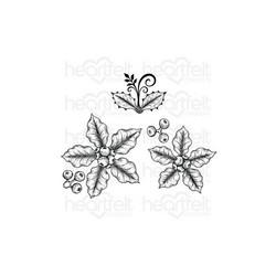Heartfelt Creations Small Festive Poinsettia -leimasin