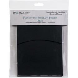 49 and Market Foundations Portrait Pockets -taskut, 4 kpl, musta