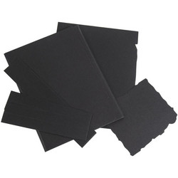 49 and Market Foundations Jagged Quarter Flip Folio -sivut, musta