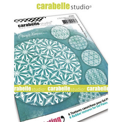 Carabelle Studio Textures Coasters -tekstuurilevyt, Vintage Wallpaper #6, 6 kpl