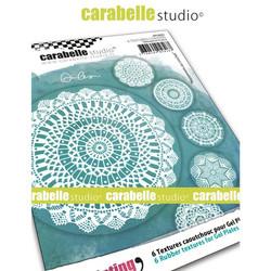 Carabelle Studio Textures Coasters -tekstuurilevyt, Crochet Doilies, 6 kpl