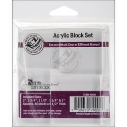 Crafter's Companion Clear Acrylic Blocks -akryylipalikat, 5 kpl