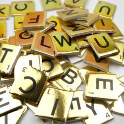 Dovecraft Mini Letter Tiles -koristeet, Gold