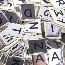 Dovecraft Mini Letter Tiles -koristeet, Silver