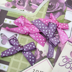Dovecraft Butterfly Kisses Mini Bows -rusetit