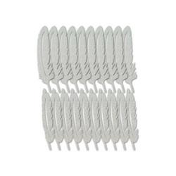 Multicraft Glitter Paper Feathers -sulat, 20 kpl, hopea