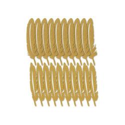 Multicraft Glitter Paper Feathers -sulat, 20 kpl, kulta