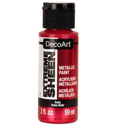 DecoArt Extreme Sheen Metallics -maali, sävy Ruby