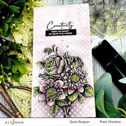 Altenew Paint-A-Flower: Clematis Josephine -leimasinsetti