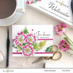 Altenew Paint-A-Flower: Fashion Monger Dahlia -leimasinsetti