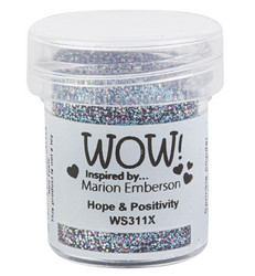 Wow! Embossing Glitters -kohojauhe, sävy Hope & Positivity, Mixture