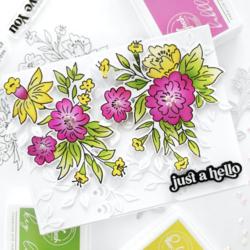 Pinkfresh Studio stanssi Happy Blooms Floral