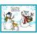 Stampendous Giving Snowmen -leimasin- ja sapluunasetti