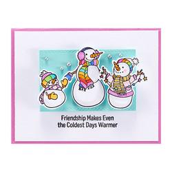 Spellbinders leimasinsetti Friendly Snowmen