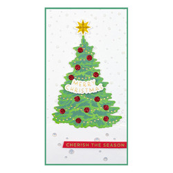 Spellbinders Glimmer Hot Foil -kuviolevy Shining Christmas Tree + stanssi