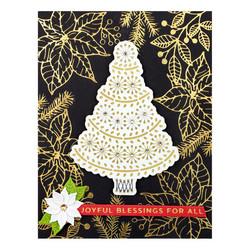 Spellbinders Glimmer Hot Foil -kuviolevy Holiday Florals Background