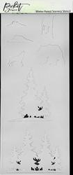 Picket Fence sapluuna Slimline Winter Forest Scenery