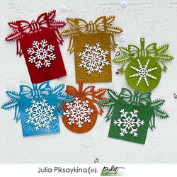 Picket Fence Paper Glitz, sävy True Christmas Red