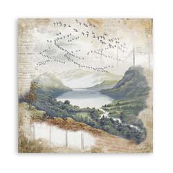 Stamperia Romantic Horses skräppipaperi Lake