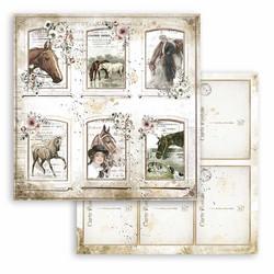 Stamperia Romantic Horses skräppipaperi Cards