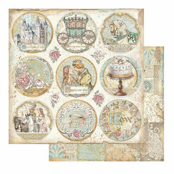 Stamperia Sleeping Beauty skräppipaperi Rounds
