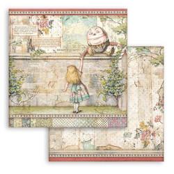 Stamperia Alice skräppipaperi Humpty Dumpty