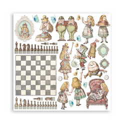 Stamperia paperipakkaus Alice Through the Looking Glass, 12